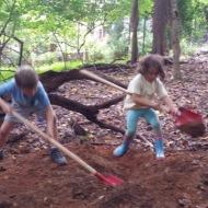 Duo-excavators coordinate for safe-digging