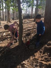 Digging friends