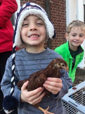 Chick visit!