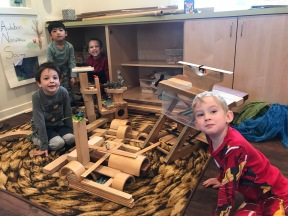 Collaboration. When ideas come together successfully in a construction project, it smooths the way for collaboration on the play-yard and elsewhere.