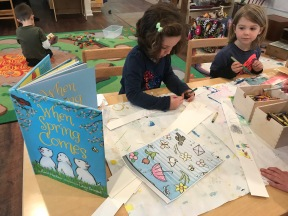 Using books to inspire artwork