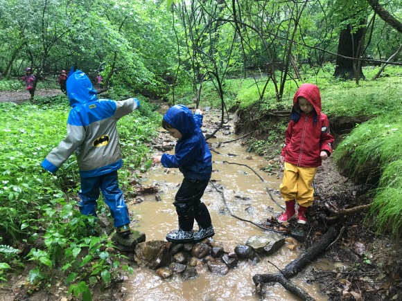 Testing their dam bridge